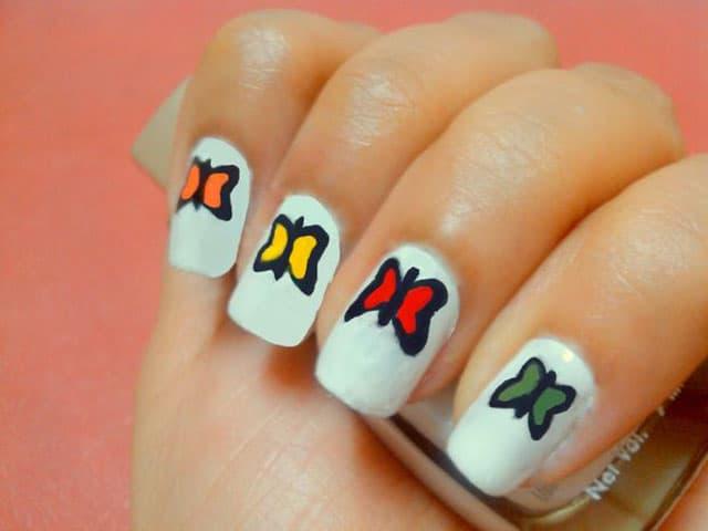 Инструкция как нарисовать бабочку на ногтях
