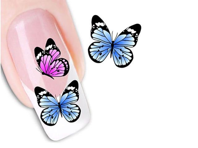 Как нарисовать бабочку на ногтях акрилом пошагово
