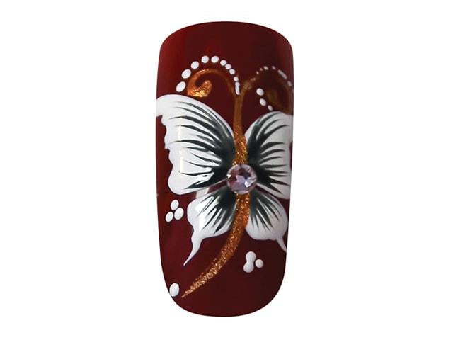 Как нарисовать красивую бабочку на ногтях гель-лаком