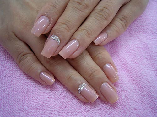 Фото нарощенных ногтей квадратной формы