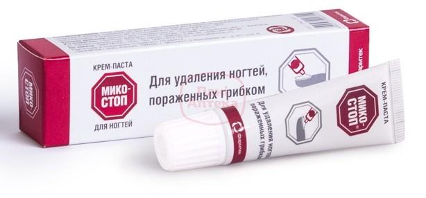 Лечение грибка ногтей пастой Микостоп