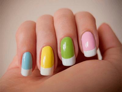 Маникюр на короткие ногти пошагово фото