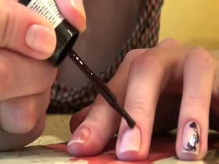 Завитки на ногтях пошагово