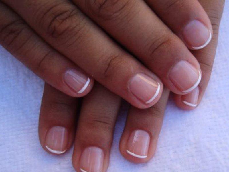 Маникюр на круглые короткие ногти