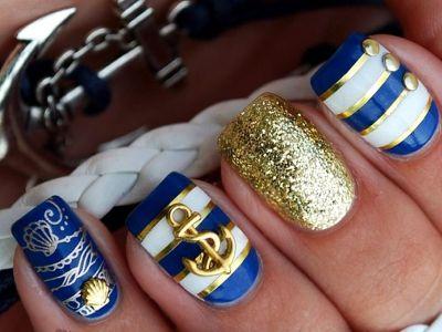 Ногти на море дизайн фото