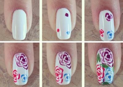 Рисунки на ногтях в домашних условиях для начинающих легкие
