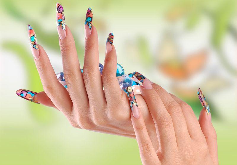 Маникюр на нарощенные ногти