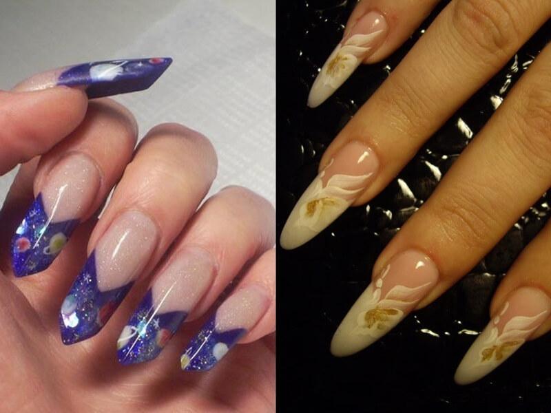 дизайн ногтей формы миндаль