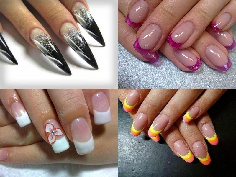 Ногти френч на разные формы ногтей