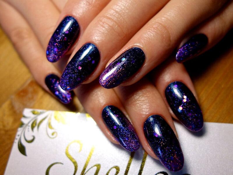 Шеллак с блестками фото дизайн ногтей