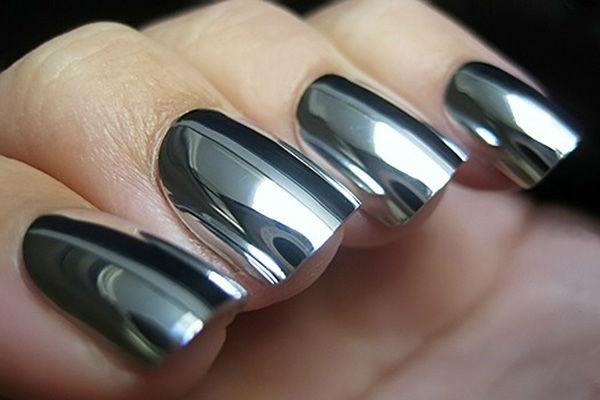 Затирка для ногтей с блестками фото